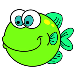 How to Draw a Chubby Fish Easy Step by Step for Kids