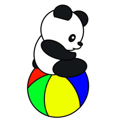 How to Draw a Giant Panda Baby Easy Step by Step for Kids