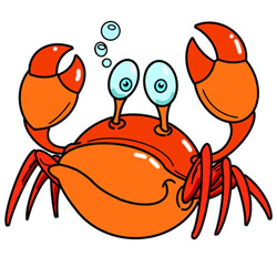 How to Draw a Crab in the Water Easy Step by Step for Kids