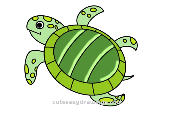 How To Draw A Turtle Easy Step By Step For Kids Cute Easy Drawings