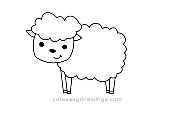 How to Draw a Cartoon Little Sheep Easy Step by Step for Kids