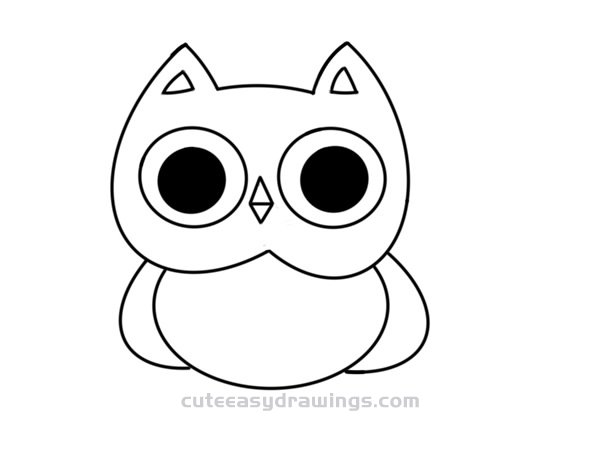 How to Draw a Cartoon Owl Easy Step by Step for Kids