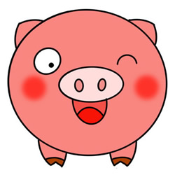 How to Draw a Pig Head Avatar Easy Step by Step for Kids