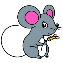 How to Draw a Mouse with Food Easy Step by Step for Kids