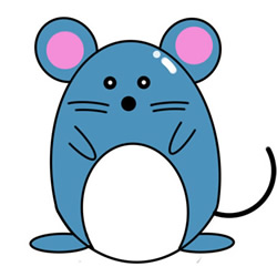 How to Draw a Standing Mouse Easy Step by Step for Kids