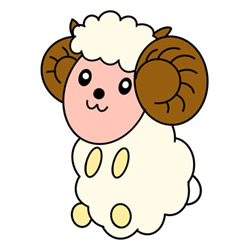 How to Draw a Sheep Sitting Easy Step by Step for Kids