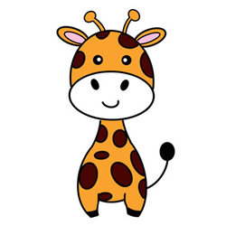How to Draw a Cartoon Giraffe Easy Step by Step for Kids