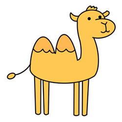 How to Draw a Camel Standing Easy Step by Step for Kids