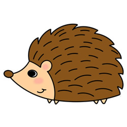 How to Draw a Hedgehog Walking Easy Step by Step for Kids