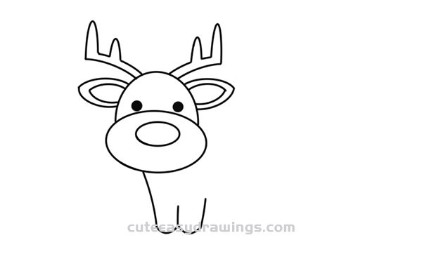 How to Draw a Reindeer Easy Step by Step for Kids