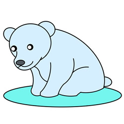 How to Draw a Polar Bear Sitting Easy Step by Step for Kids