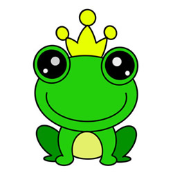 How to Draw a Frog Prince Easy Step by Step for Kids