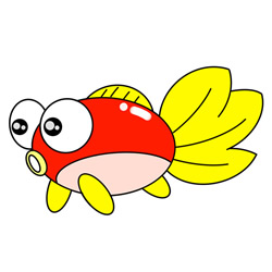 How to Draw a Cartoon Goldfish Easy Step by Step for Kids