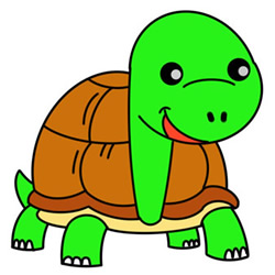 How to Draw a Happy Turtle Easy Step by Step for Kids