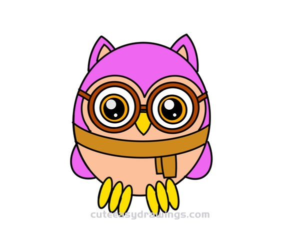 How To Draw An Owl Girl Easy Step By Step For Kids Cute Easy