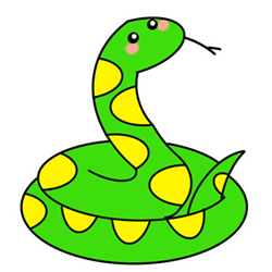 How to Draw a Snake Easy Step by Step for Kids