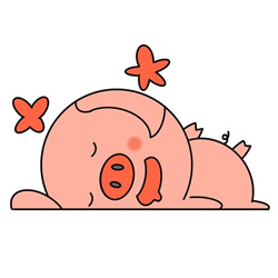 How to Draw a Sleeping Pig Easy Step by Step for Kids