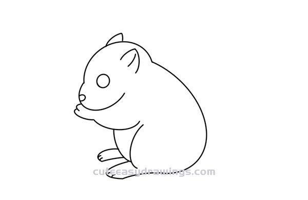 How to Draw a Squirrel Eating Easy Step by Step for Kids