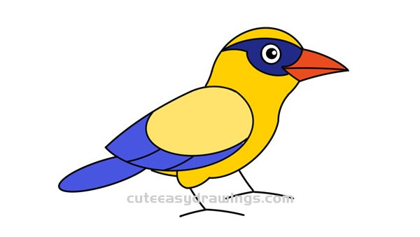 How To Draw An Oriole Bird Easy Step By Step For Kids Cute Easy Drawings