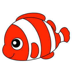 How to Draw a Clownfish Easy Step by Step for Kids