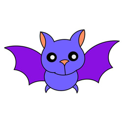 How to Draw a Flying Bat Easy Step by Step for Kids