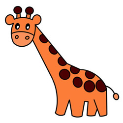 How to Draw a Cute Giraffe Easy Step by Step for Kids