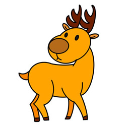 How to Draw a Cartoon Deer Easy Step by Step for Kids