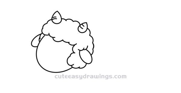 How to Draw a Fat Sheep Easy Step by Step for Kids