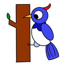 How to Draw a Woodpecker Easy Step by Step for Kids