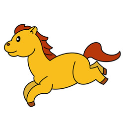 How to Draw a Running Horse Easy Step by Step for Kids