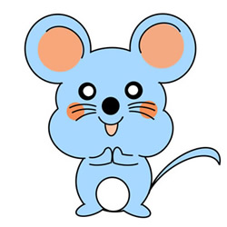 How to Draw a Cute Cartoon Mouse Easy Step by Step for Kids