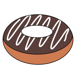 How to Draw a Chocolate Donut Easy Step by Step for Kids