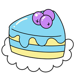 How to Draw a Blueberry Cake Easy Step by Step for Kids