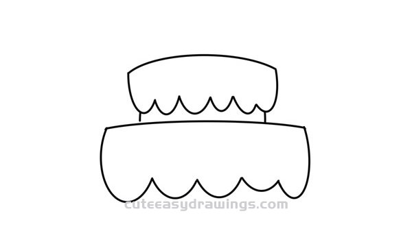 How to Draw a Birthday Cake Easy Step by Step for Kids