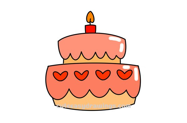 Fabulous How To Draw A Birthday Cake Easy Step By Step For Kids Cute Easy Funny Birthday Cards Online Alyptdamsfinfo