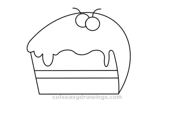 How to Draw a Layer Cake Easy Step by Step for Kids