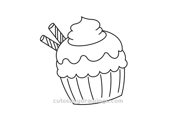 How to Draw a Cute Cupcake Easy Step by Step for Kids