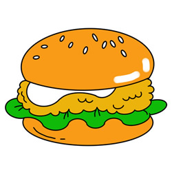 How to Draw a Hamburger Easy Step by Step for Kids
