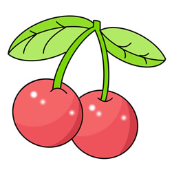 How to Draw Cute Cherries Easy Step by Step for Kids