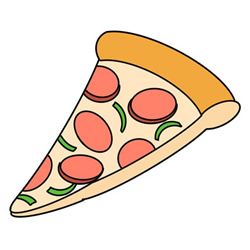 How to Draw a Sliced Pizza Easy Step by Step for Kids