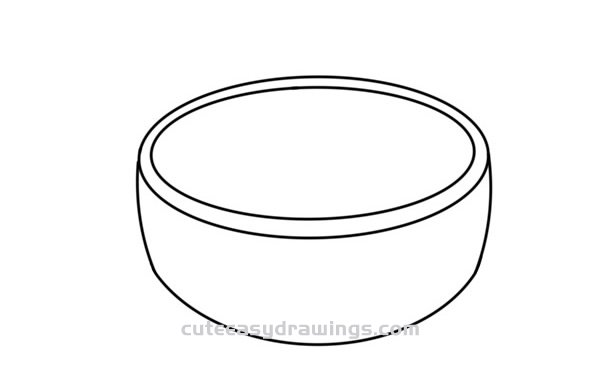 How to Draw a Bowl of Porridge Easy Step by Step for Kids