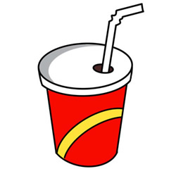 How to Draw a Cup of Coca Cola Easy Step by Step for Kids