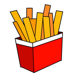 How to Draw a Bag of French Fries Easy Step by Step for Kids