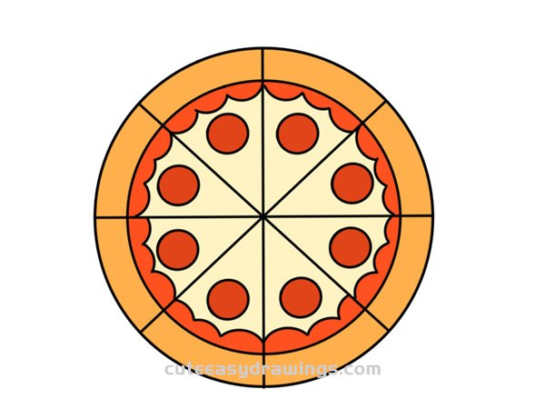 How to Draw a Pizza Easy Step by Step for Kids