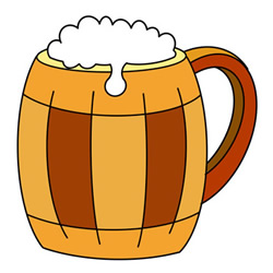 How to Draw a Glass of Beer Easy Step by Step for Kids