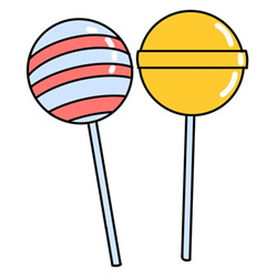 How to Draw Lollipops Easy Step by Step for Kids