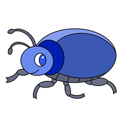 How to Draw a Cartoon Beetle Easy Step by Step for Kids