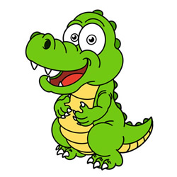 How to Draw a Funny Cartoon Crocodile Easy Step by Step for Kid