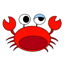 How to Draw a Funny Crab Easy Step by Step for Kids