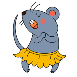 How to Draw a Cute Dancing Mouse Easy Step by Step for Kids